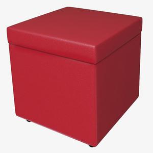 Baú Puff Vermelho 40x40x40cm