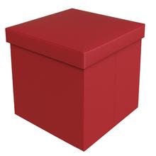 Baú Puff Vermelho 40x40x40cm Courino
