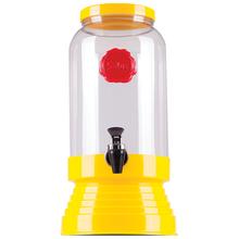 Bebedouro de Vidro para Água e Suco 3,25L Amarelo Salus