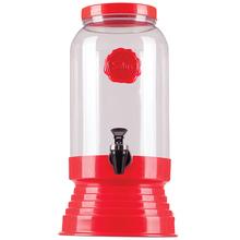 Bebedouro de Vidro para Água e Suco 3,25L Vermelho Fresh Salus