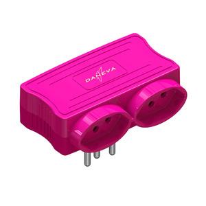 Benjamim com USB 2 Saídas 2 Pólos+Terra Rosa Daneva