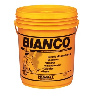 Bianco l quido para argamassa chapisco branco 18l vedacit for Battiscopa bianco leroy merlin