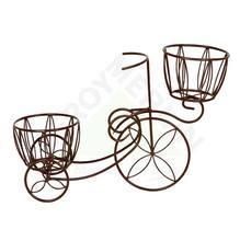 Bicicleta Aço com 2 Cachepos Marrom Shangai