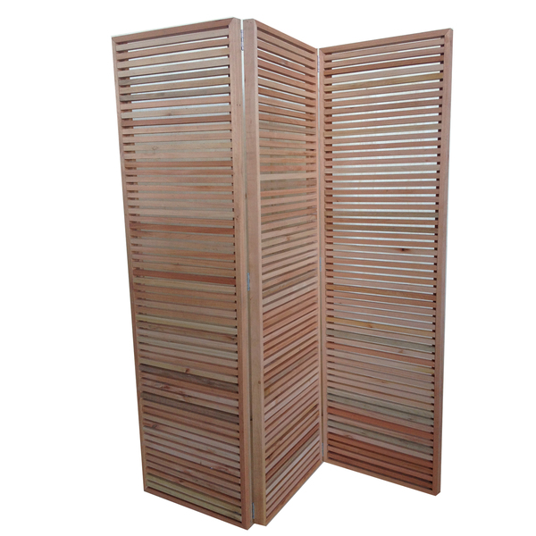 Biombo dobr vel ripado de madeira eucalipto 180x150cm - Biombos en leroy merlin ...