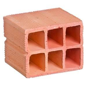 Bloco Cerâmico Metade 6 furos 11,5x9x14cm Cerâmica Lino