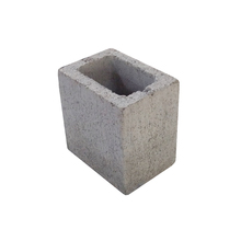 Bloco de Concreto Vazado Estrutural 4,5 Mpa - Meio Bloco 14x19x19cm - Classe B - JCRB Blocos