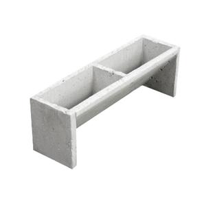 Bloco de Concreto para Jardim Vertical SM-03 65x22x19,5cm Ecobloco