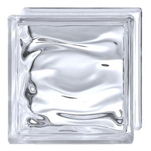 Bloco de Vidro Água Neutro 19x19x8cm Detalli
