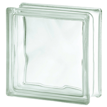Bloco de Vidro Anti-arrombamento Ondulado Incolor 19x19x8cm Seves Glass Block