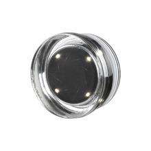 Bloco de Vidro Circular LED Incolor 11,6x6cm Seves Glass Block