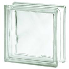 Bloco de Vidro Clean Ondulado Incolor 19x19x8cm Artens