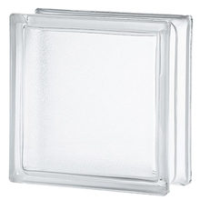 Bloco de Vidro Liso Semi Fosco Artic Incolor 19x19x8cm Seves Glass Block