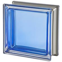 Bloco de Vidro Metalizado Azul 19x19x8cm Seves
