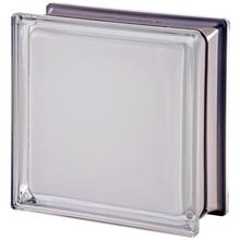Bloco de Vidro Metalizado Branco 19x19x8cm Seves