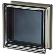 Bloco de Vidro Metalizado Preto 19x19x8cm Seves