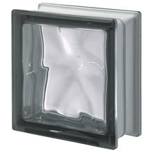 Bloco de Vidro Nordica Cinza 19x19x8cm Seves