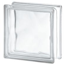 Bloco de Vidro Incolor Ondulado 19x19x8cm Seves