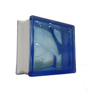 Bloco de Vidro Ondulado Azul 8x19x19cm Caixa com 6 unidades Colortil