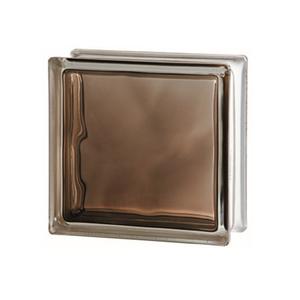 Bloco de Vidro Ondulado Bronze 8x19x19cm Caixa com 6 unidades Colortil