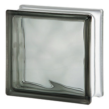 Bloco de Vidro Ondulado Cinza 19x19x8cm Seves Glass Block