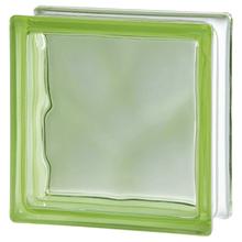 Bloco de Vidro Ondulado Green 19x19x8cm Seves