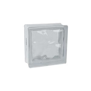 Bloco de Vidro Ondulado Incolor 8x19x19cm Caixa com 6 unidades Colortil