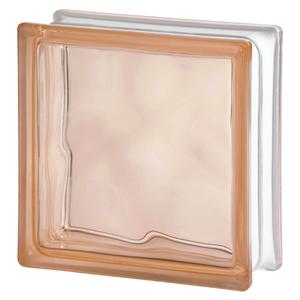 Bloco de Vidro Ondulado Rosa 19x19x8cm