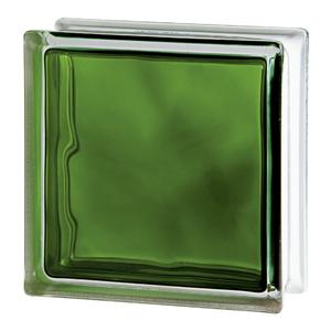 Bloco de Vidro Ondulado Verde 8x19x19cm