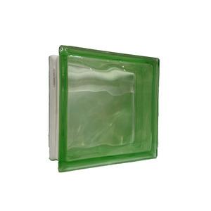 Bloco de Vidro Ondulado Verde 8x19x19cm Caixa com 6 unidades Colortil