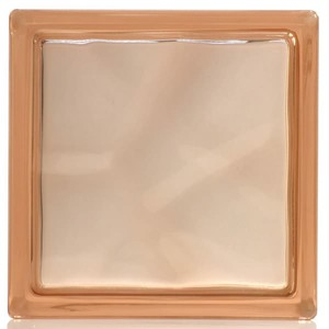 Bloco Vidro Incolor Ondulado Basic 19 X 19 X 8 cm