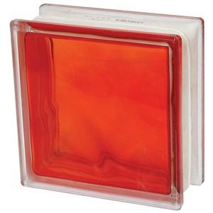 Bloco Vidro Ondulado Vermelho 1908wve Modelo Interno Basic 19,00 cm 19,00 cm 8,00 cm