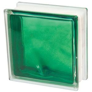 Bloco Vidro Ondulado Verde Escuro 1908wve Interno Basic 19X19X8cm