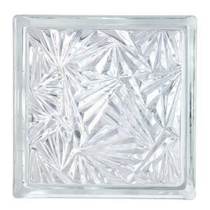 Bloco Incolor  Vidro Raio Design 19 X 19 X 8 cm