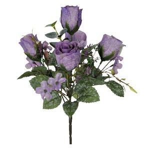 Boquet Artificial Rosa Craqueado Lavanda Flor Arte