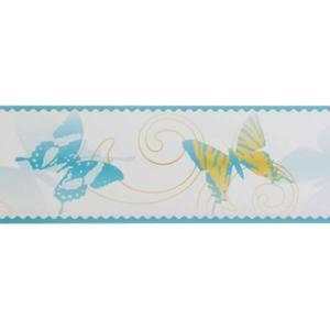 Border Adesivo Borboleta Azul 10,3x5m Art Papier