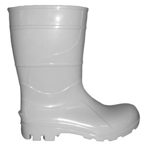 Bota PVC Branca N°38 Cano Médio Sem Forro Kala