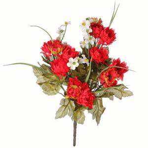 Bouquet Crisantemo Vermelho 30cm Flor Arte