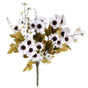 Bouquet Margarida Mini Branco 30cm Flor Arte