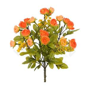 Bouquet Rosa Mini Outono X18 Laranja 30cm Florarte