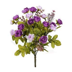 Bouquet Rosa Mini Outono X18 Lavanda 30cm Florarte