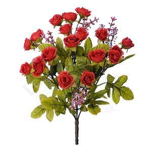 Bouquet Rosa Mini Outono X18 Vermelho 30cm Florarte