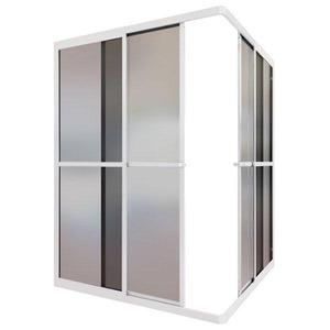 Box de Canto Acrílico 80x80x185cm Branco ESAF