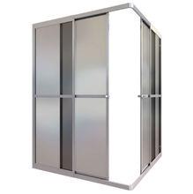 Box de Canto Acrílico 80x80x185cm Fosco ESAF