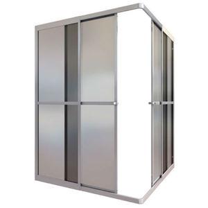Box de Canto Acrílico 90x90x185cm Fosco ESAF