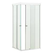 Box de Canto Vidro Incolor Kit Branco 1,90x0,90m