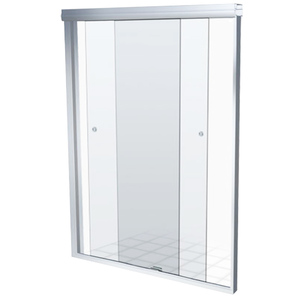 Box Frontal de Correr Vidro 200x130cm Incolor Kit Branco Speed Temper