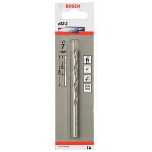 Broca P/ Metal Aço Rápido Brilhante Diâmetro 7 mm Comprimento Total 109 mm