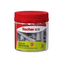 Bucha Universal 6mm Nylon UX Fischer 35 peças