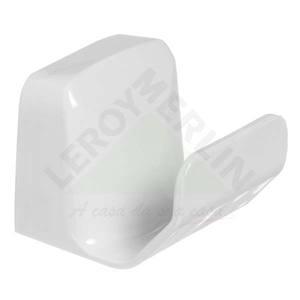 Cabide 1 Gancho Branco Plástico Parafusar Primafer