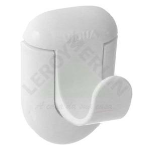 Cabide 1 Gancho Branco ABS Parafusar Viqua